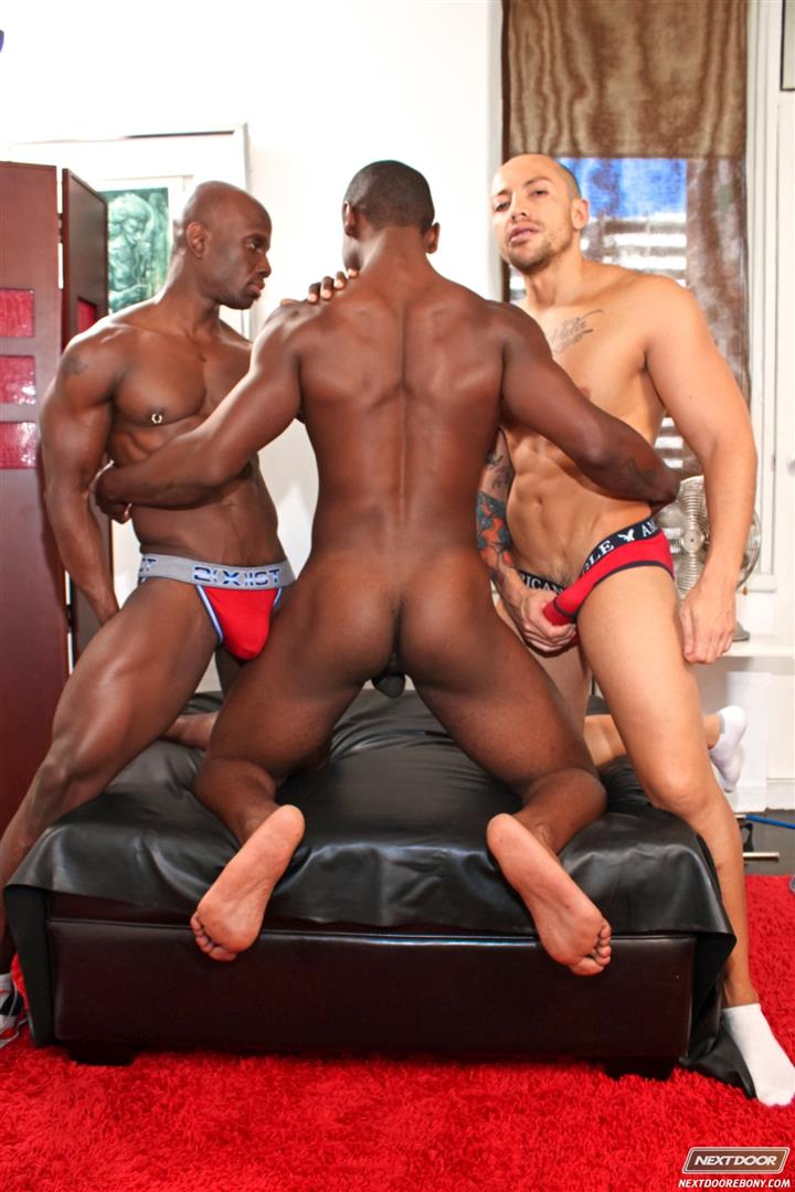 Next Door Ebony Jordano Santoro and Jay Black and Damian Brooks Interracial Gay Fucking Threeway Amateur Gay Porn 03 Interracial Muscle Couple Picks Up A Black Muscle Stud In The Park