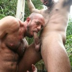 Butch-Dixon-Rikk-York-and-Matt-Stevens-Hairy-Daddy-and-Younger-Guy-Trade-Blow-Jobs-Amateur-Gay-Porn-07-150x150 Hairy Beefy Muscle Daddy Fucking His Younger Buddy Outside