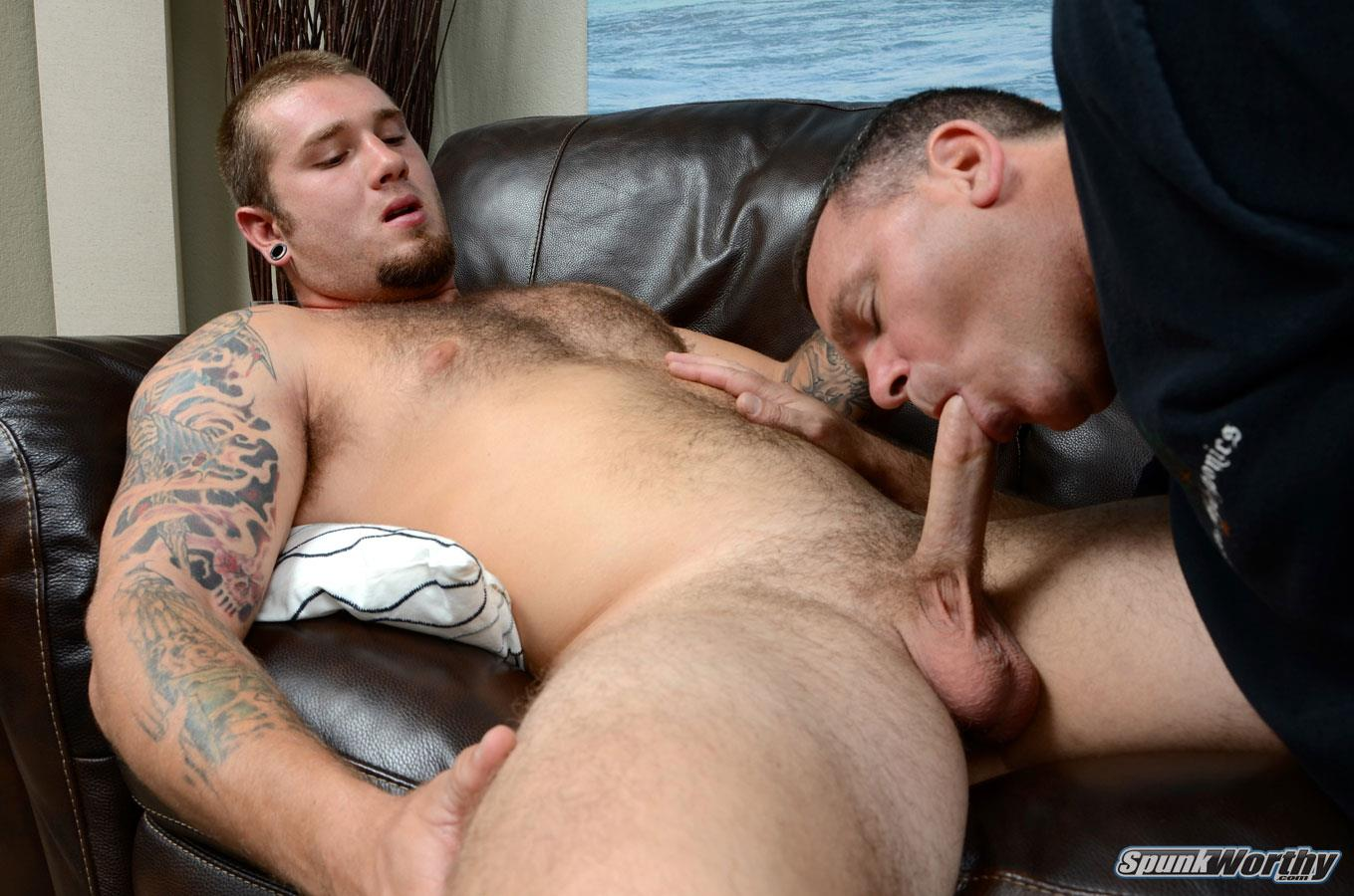 SpunkWorthy-Preston-Straight-Guy-Getting-His-First-Blowjob-Hairy-Cub-Amateur-Gay-Porn-15 Straight Hairy Young Muscle Cub Gets His First Blowjob From Another Guy