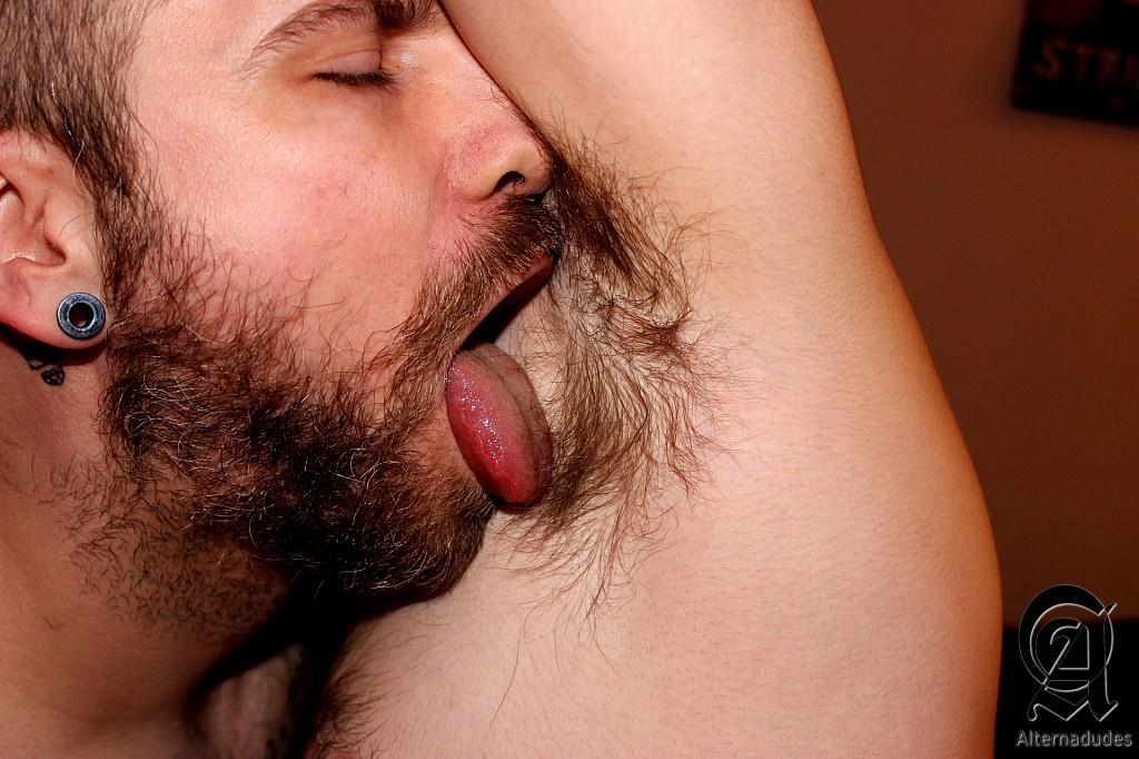 Alternadudes-Borris-Kumkhov-and-Nestor-Wyott-Hairy-Tatted-Hipsters-Rimming-Asses-Amateur-Gay-Porn-10 Amateur Hairy Tatted Hipsters Take Turns Rimming Each Other's Hairy Asses
