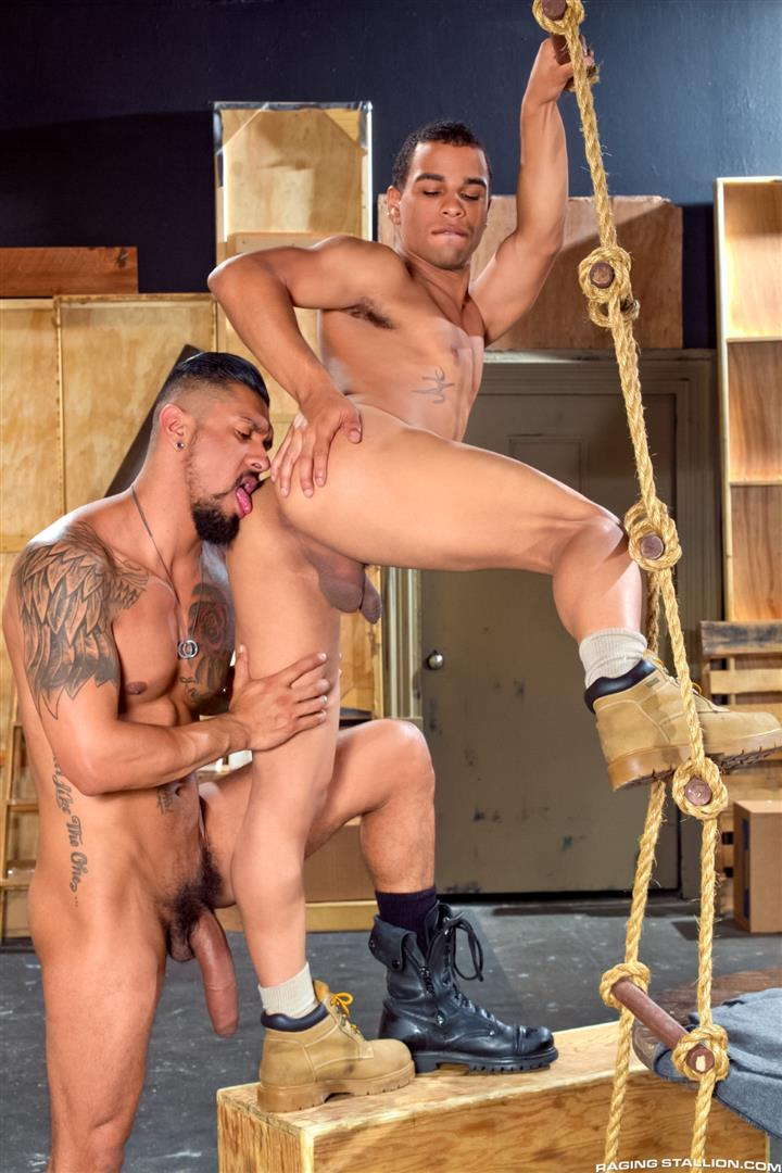 Raging Stallion Boomer Banks and Trelino Huge Uncut Cock Fucking A Black Ass Amateur Gay Porn 06 Young Black Guy Takes Boomer Banks Huge Uncut Cock Up The Butt